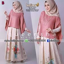 rok muslimah rok dan blouse queensha a063 by balimo