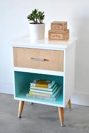 Homemade Wooden Bedside Table by Best 25 Unique Nightstands Ideas On Pinterest Nightstands And