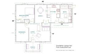Plan Of House by Grandfather Cottage Home Plans Kit