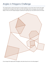 Sum Of The Interior Angles Of A Polygon Worksheet Angles In Polygons Challenge By Tristanjones Teaching Resources
