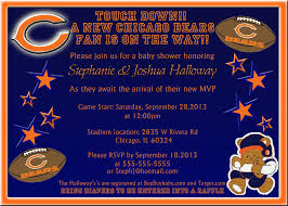 teddy bear baby shower invitations chicago bears baby shower invitation kustom kreations