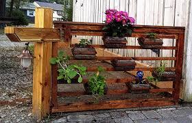 flower box reclaimed fence