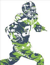 Seahawks Shower Curtain Jimmy Graham Seattle Seahawks Pixel Art 5 Mixed Media By Joe Hamilton