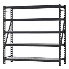 Free Online Deck Design Home Depot Husky 90 In H X 90 In W X 24 In D 5 Shelf Welded Steel Shelving