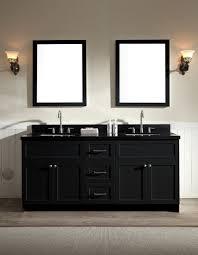 black countertop with black sink ariel hamlet 73 double sink vanity set with absolute black granite