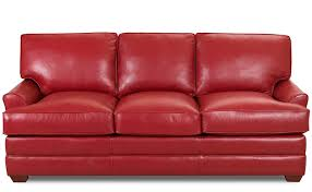 American Sleeper Sofa American Red Leather Sleeper Sofa With Wooden Legs And Fold Out