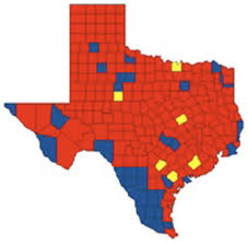 Map Of Cities In Texas Dallas A Blue City In A Red State