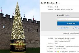 Used Commercial Christmas Decorations For Sale by Cardiff U0027s Controversial Christmas Tree Is U0027up For Sale U0027 On Ebay