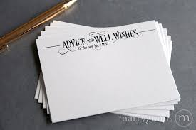 wedding wishes and advice cards wedding advice cards well wishes enchanting style