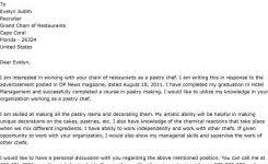 funny resume cover letter job application letter pastry chef