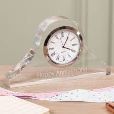 personalised clear acrylic desk clock selection by dibor