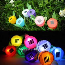 tulip solar path lights cheap stock 8pcs lot outdoor solar powered tulip flower led light