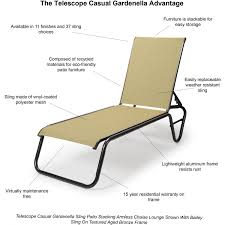 Telescope Furniture Replacement Slings by Telescope Casual Gardenella Sling Patio Stacking Armless Chaise