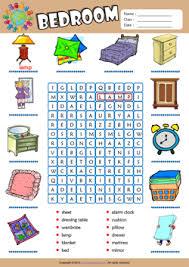 bedroom esl printable worksheets for kids 1