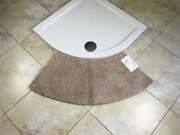 microfibre non slip medium curved shower mat