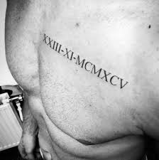 36 exquisite roman numeral tattoo designs tattooblend