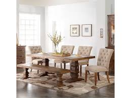 new classic normandy 6 piece double pedestal table and upholstered