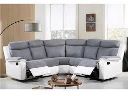 canap d angle blanc gris canapé d angle relax en microfibre et simili gris bilston