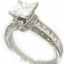 white gold princess cut engagement ring white gold princess cut wedding rings 14k white gold princess cut