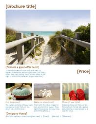 travel brochure office templates