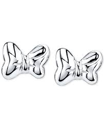 minnie mouse earrings lyst disney minnie mouse bow stud earrings in sterling silver in