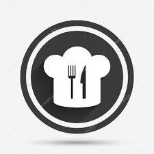 chapeau de cuisine icône de signe de chapeau chef symbole de la cuisine image