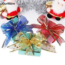 aliexpress com buy ourwarm 10yards organza ribbon christmas diy