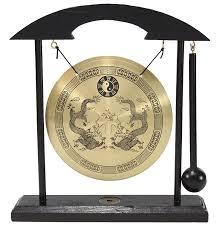 Zen Home Decor by Amazon Com Zen Table Gong Dragon With Taiji Symbols Feng Shui