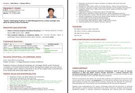 Sample Electrician Resume by Resume Format For Safety Officer In Construction Resume Format