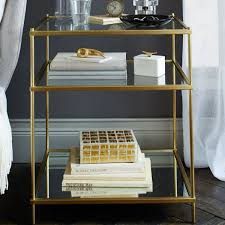 sophisticated glass bedside table u2014 new interior ideas