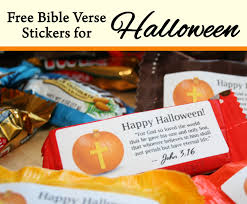 Religious Halloween Crafts - bible verse label for halloween candy fall festival pinterest