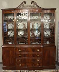 antique breakfront crotch mahogany china cabinet hutch china