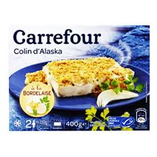 colin cuisine carrefour colin d alaska a la bordelaise 400g tops