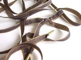 ribbon shoelaces shoelaces navy gold ribbon shoelaces by lostinlaceboutique