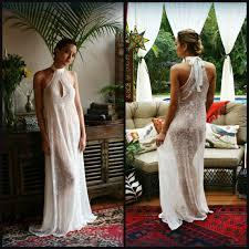 Wedding Sleepwear Bride Bridal Halter Nightgown Racer Back Wedding Lingerie Bridal