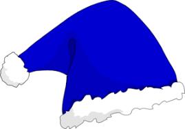 blue santa hat santa hat b free images at clker vector clip online
