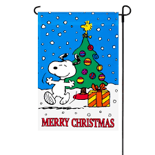 peanuts christmas peanuts merry christmas garden flag