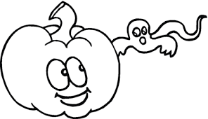 cute pumpkin ghost coloring free printable