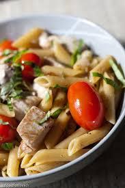 cuisiner thon frais penne au thon frais et tomates cerise food for