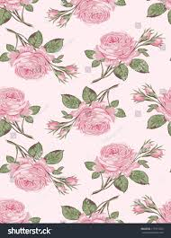 Shabby Chic Rose by Floral Seamless Pattern Shabby Chic Rose Stock Vector 117591283
