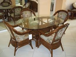 15 fascinating oval kitchen island minimalist oval glass top dining table with rattan chairs within