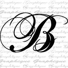 monogram letter b monogram initial letter b digital collage sheet by graphique b s