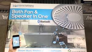 ventilation fan with stereo bluetooth speakers and led lights
