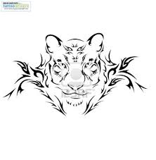 tribal tiger designs tiger with tribal design
