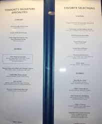 norwegian jewel 2013 summer main dining room menu right side is