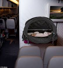 Comfort On Long Flights Mum Invents Device To Help Babies Sleep On Planes Daily Mail Online