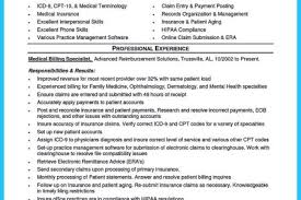 Sample Resume For Medical Billing And Coding by Insurance Medical Payment Poster Resume Reentrycorps