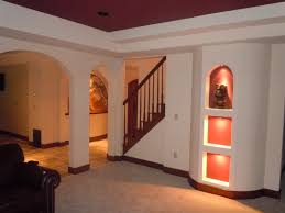 gallery of basement ideas with entertainment area throughout