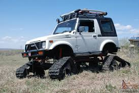 mitsubishi jeep for sale samurai snowcat jeep rockcrawler 4x4 lifted tracks