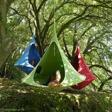 cocoon swing tents saw these on tree house masters very cool